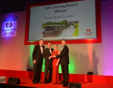 Canal Boat Cruises_Winner Self Catering Simon Calder(L) & Adrian Leather Lancashire Sport Partnership(R)