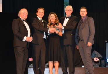 St Annes Beach Huts_Winner Best Visitor Experience - John Sergeant (L) & Roger Borrell Lancashire Life ( 2nd from R)