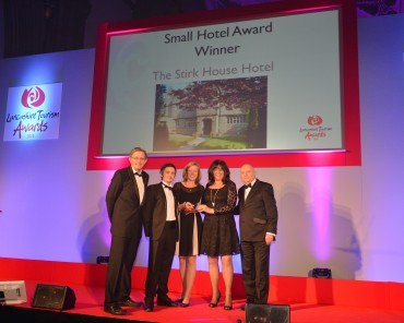 Stirk House Hotel_Winner Small Hotel Simon Calder(L) & Gary Swarbrooke Quality in Tourism(R)