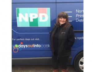 Tina Midgley with van