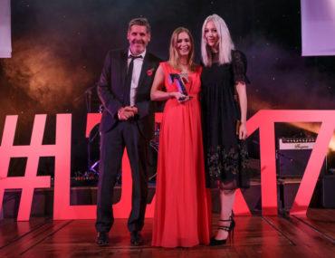 LTA17 Lancashire Cafe Tearoom Award winner Potters Barn with Tony Livesey GP & Emily Ashworth on behalf of Lancashire Life sponsor