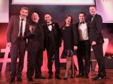 LTA17 Large Visitor Attraction Award winner Viva Blackpool with Tony Livesey & Paul Hardy Napthens sponsor