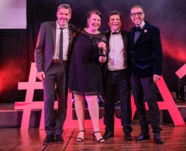 LTA17 Small Tourism Event Award winner Cloudspotting with Tony Livesey GP & Andrew Leeming on behalf of Lancashire Post sponsor