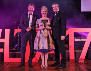 LTA17 Tourism Superstar Award winner Laura Johnson with Tony Livesey and Cty Cllr Michael Green Lancashire County Council