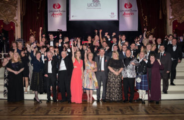LTA17 group winners with Tony Livesey guest presenter Ruth Connor Chief Executive ML& Tony Attard Chair Marketing Lancashire (2)