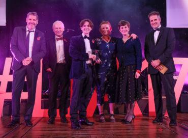 LTA17_Sustainable Tourism Award winner Browsholme Hall with Tony Livesey GP & Jones Harris Chartered Accountants sponsor