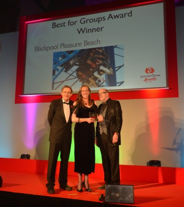 Blackpool Pleasure Beach_Best for Groups Winner_Simon Calder(L) and Peter Stonham Group Travel Organiser Magazine(R)