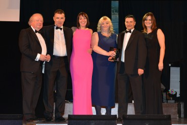 Crook Hall Farm_Winner Self-Catering - John Sergeant (L) & Sarah Lovell Lancashire Evening Post (4th from L)