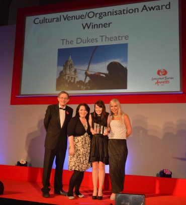 Dukes Theatre_Winner Cultural Venue_Simon Calder(L) & Christine Cort Manchester International Festival (R)