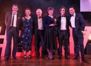LTA17 Wedding Venue Award winner Browsholme Hall with Tony Livesey & Robin Kershaw DFC sponsor