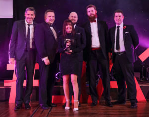 LTA17_Small Hotel Award_winners Villa Wrea Green GP Tony Livesey Stephen Bolton Lancashire Business View sponsor